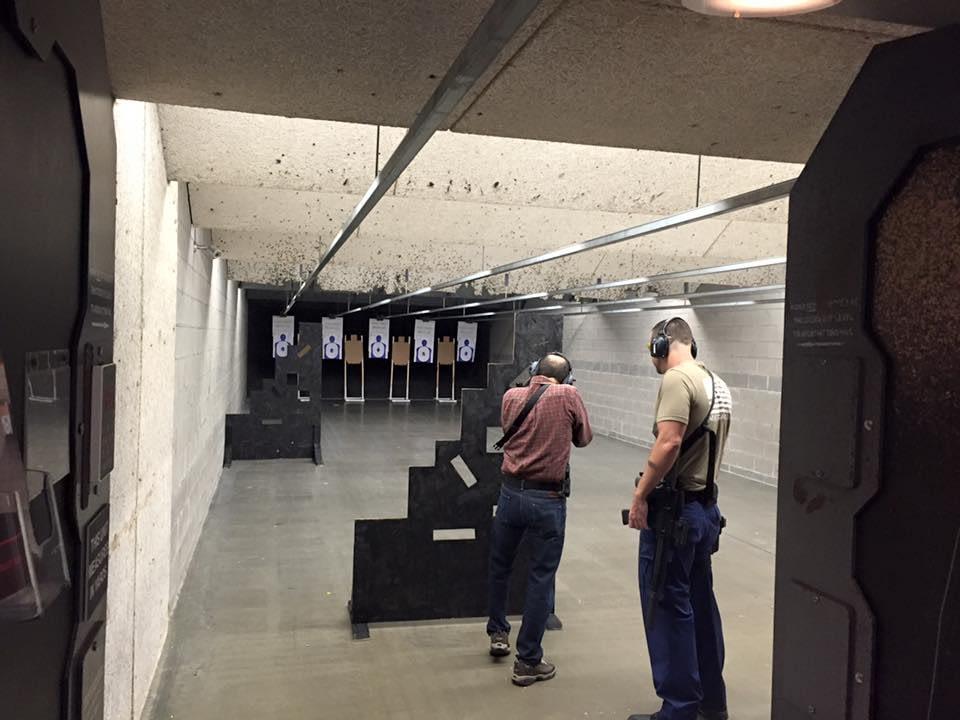 men shooting range