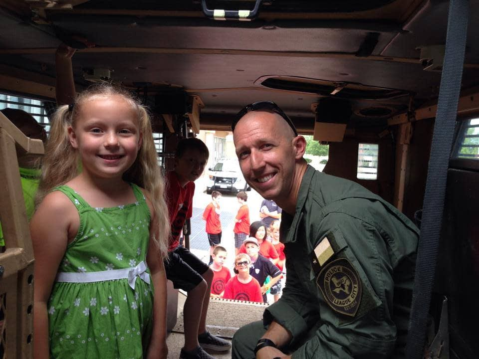 army guy with girl arms room texas