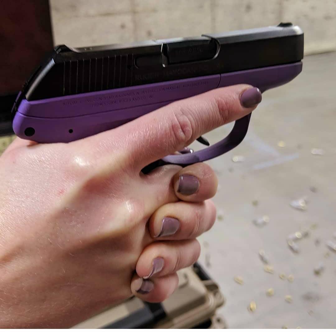 purple small gun